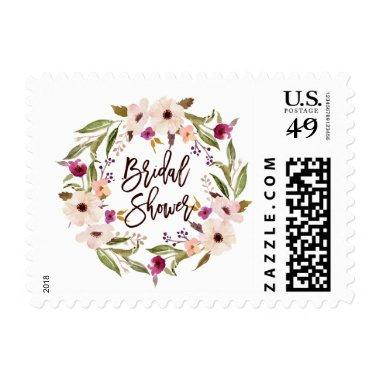 Whimsical Bohemian Floral Wreath  Postage