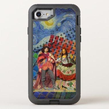 Whimsical Mona Lisa Romantic Colorful OtterBox Defender iPhone SE/8/7 Case