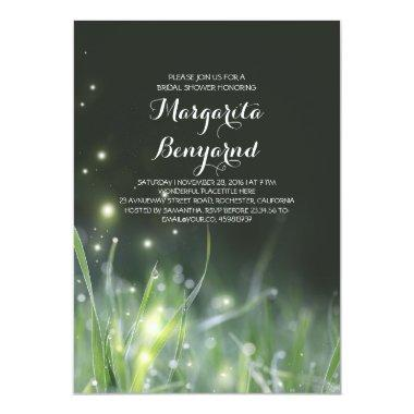 whimsical night lights bridal shower Invitations