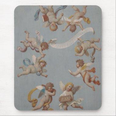 Whimsical Renaissance Cherub Angels Mouse Pad