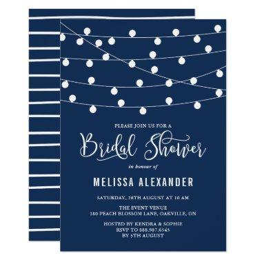 Whimsical String Lights Navy Blue