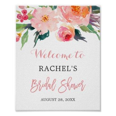 Whimsical Watercolor Floral  Sign