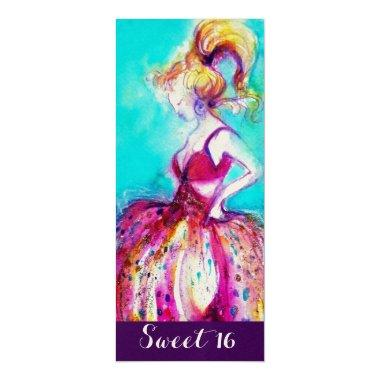 WHIMSICAL YOUNG GIRL SWEET 16 BIRTHDAY PARTY Invitations