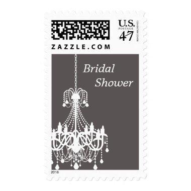 WHITE ANTIQUE CHANDELIER | BRIDAL SHOWER POSTAGE