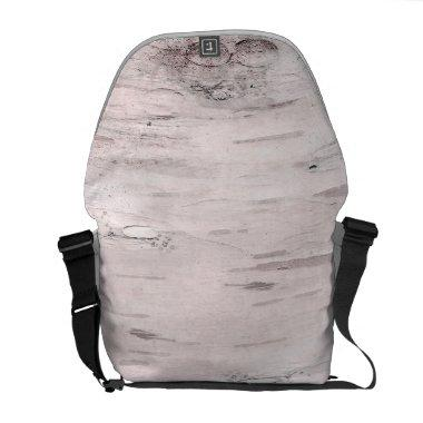 White Birch Tree Wood Rustic Barn Farmhouse Chic Courier Bag