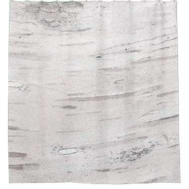 White Birch Wood Rustic Country Farmhouse Barn Shower Curtain