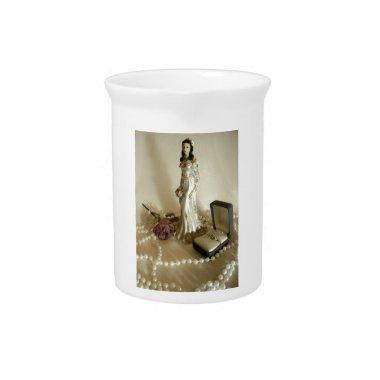 White Bridal III Beverage Pitcher