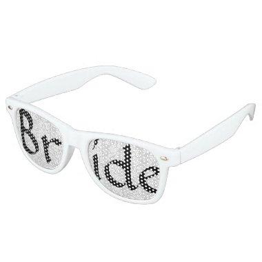 White Damask Bride Fun Bachelorette Party Glasses