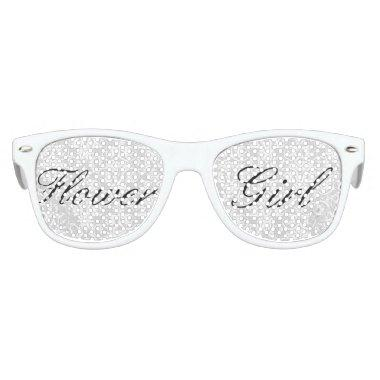 White Damask Flower Girl Sunglasses