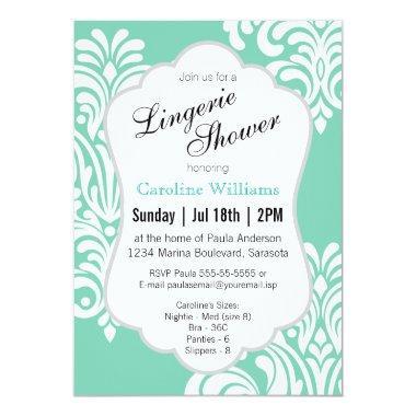 White Damask Lingerie Shower