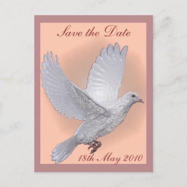 White Dove Save the Date post