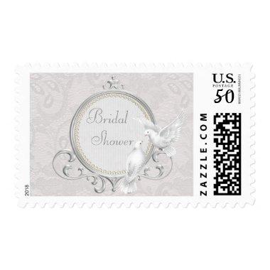 White Doves & Paisley Lace  Postage