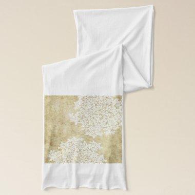 White Floral Vintage Scarf