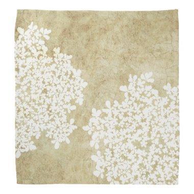 White Floral Vintage Wedding Bandana