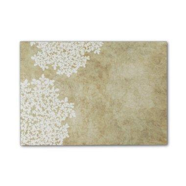 White Floral Vintage Wedding Post-it Notes
