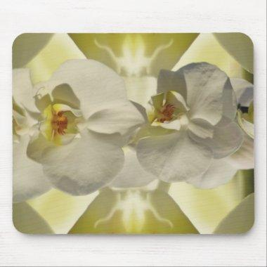 White orchid wedding mouse pad