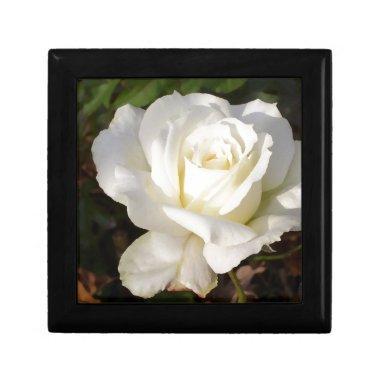 White Rose Wedding January Bridal Party Gifts Jewelry Box