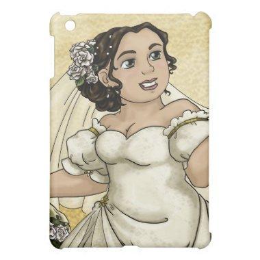 White Roses Bride Case For The iPad Mini