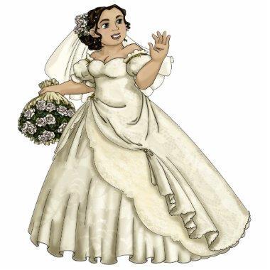 White Roses Bride Statuette