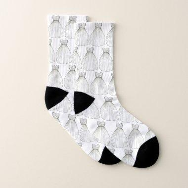 White Wedding Dress Gown  Bride Socks