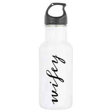 Wifey script water bottle