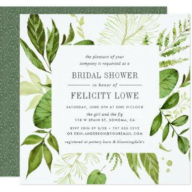 Wild Meadow Bridal Shower Invitations | Square