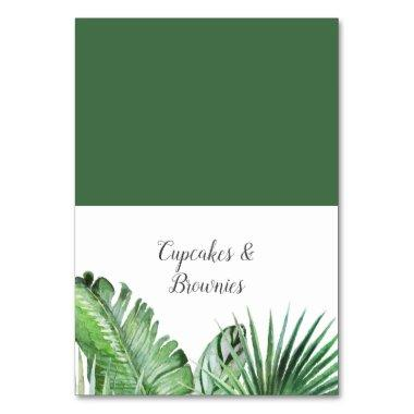 Wild Tropical Palm Buffet Food Labels Table Number