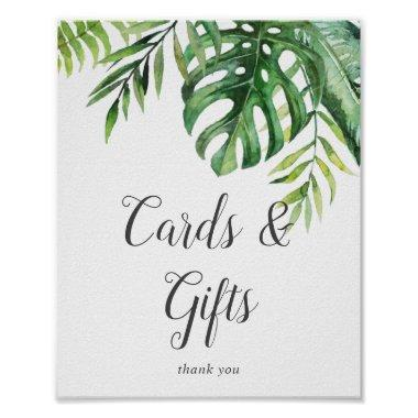 Wild Tropical Palm Invitations and Gifts Sign