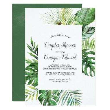 Wild Tropical Palm Couples Shower Invitations