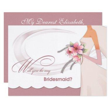 Will you be my Bridesmaid? Custom Invitation