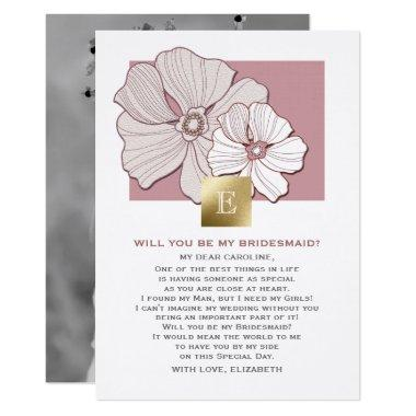 Will you be my Bridesmaid? Custom Photo