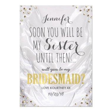 Will you be my Bridesmaid | White Gold Sister