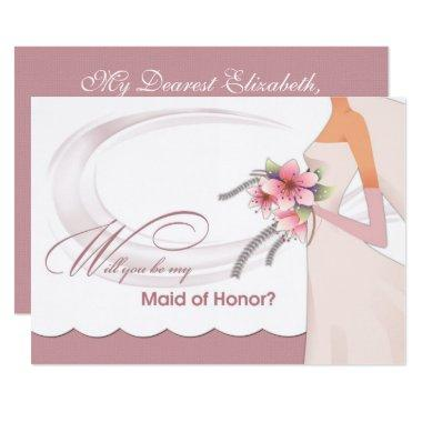 Will you be my Maid of Honor? Custom