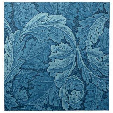 William Morris Acanthus in Blue Cloth Napkin