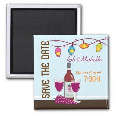 Wine and Cheese  Custom Magnet Favor