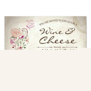 Wine & Cheese Birthday Invitations
