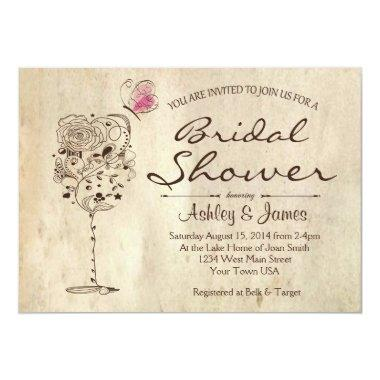 Wine & Cheese Bridal Shower Invitations