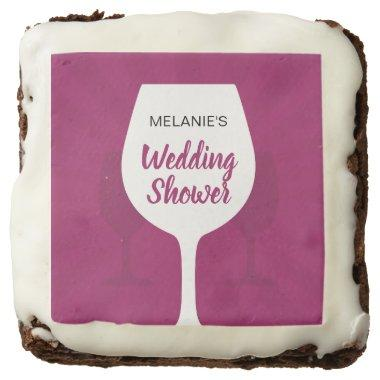 Wine Tasting Bridal Shower with Name Brownie