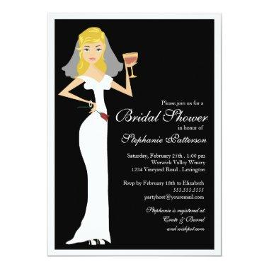 Wine Theme Bridal Shower Celebration Invitations