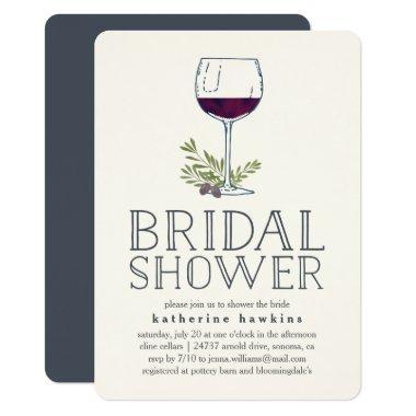 Winery or Wine Tasting Bridal Shower Invitations
