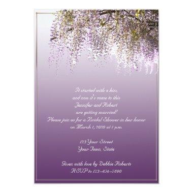 Wisteria Flower Lavender Bridal Shower Invitations