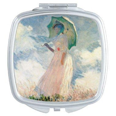 Woman with Parasol Promenade Monet Mirror For Makeup