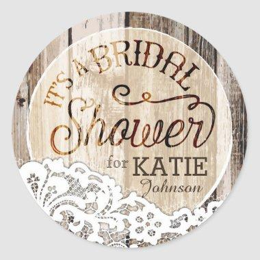 Wood and Lace Rustic  Label