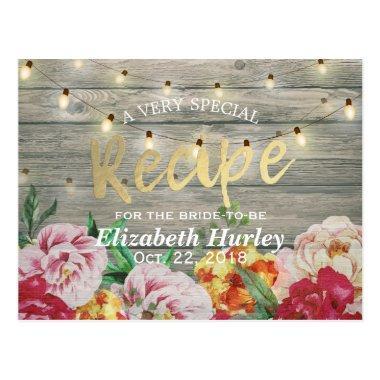 Wood Floral String Lights  Recipe Post