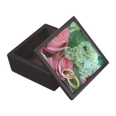 Wood Jewelry Box Custom Wedding Photo & Date