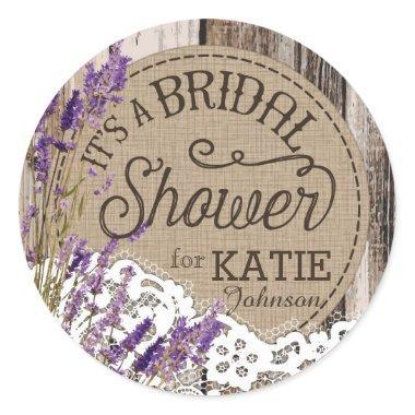 Wood Lavender Lace Rustic  Label