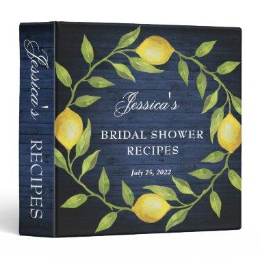 Wood & Lemons Greenery Bridal Shower Recipe Binder