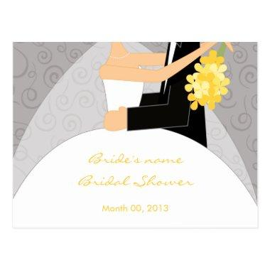 Yellow and Grey Bridal Shower Advice Cards