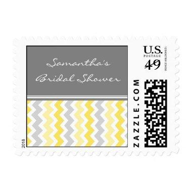 Yellow Chevron  Wedding Stamps