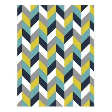 Yellow Gray Green Blue Navy Herringbone Chevron Post